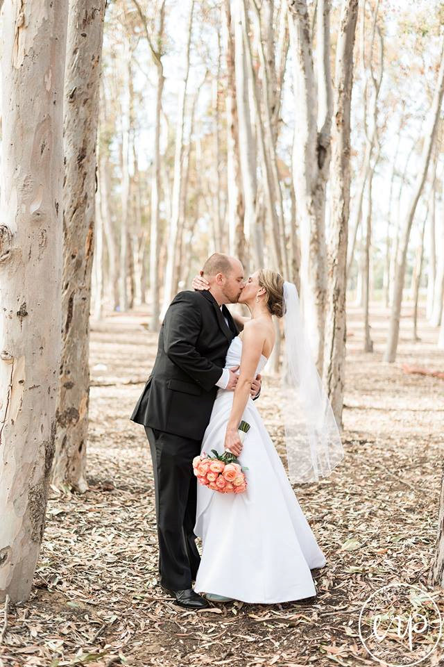 Bride and Groom in the trees